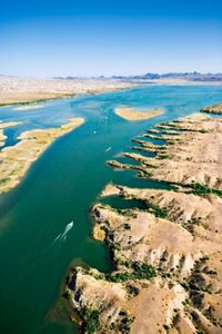 Aerial View of Lake Havasu in Lake Havasu City, Arizona