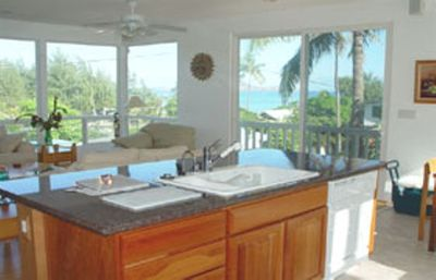 This private single family beach house looks out over Kailua Bay- 600ft to beach
