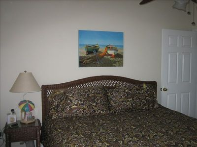 Windy Hill condo rental - Spare bedroom/ king size pillow top mattress,TV/DVD, two spacious closets