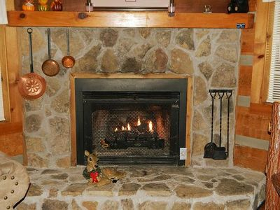 Cozy up in front of a warm fire on a cold winter's night.
