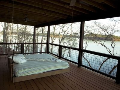 Swinging Porch Bed on Upper Deck