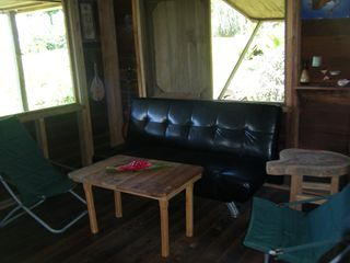 Bocas del Toro cabin photo - living space in rustic cabin