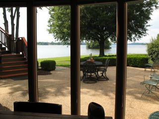 Patio & water view from lower level family room - Lake Anna house vacation rental photo