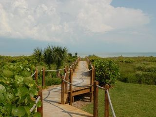 Sanibel Island condo photo - Private Boardwalk with foot wash