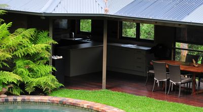 Sydney City apartment rental - New and improved pool cabana