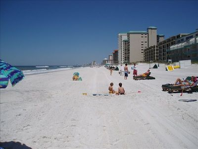 West view of beach ( soft sugar sand )