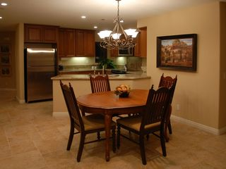 Mission Beach condo photo - Dining area. 6 chairs and add'l card table and 4 chairs for seating children.