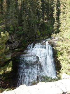 Big Sky townhome rental - There are many beautiful views of Ousel Falls from the trail.