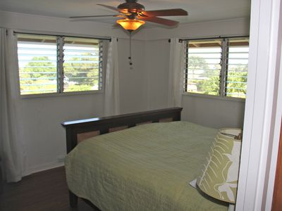 1st floor ocean view master bedroom with own bathroom & walk-in closet