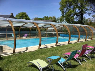Vacation rental with covered pool located at the gates of the Gulf of Morbihan - The small Métairie