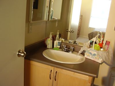 Full bath ensuite, with bathtub and shower combination. Enjoy your stay!!