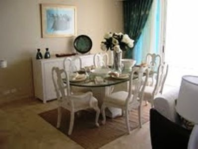 Formal dining indoors