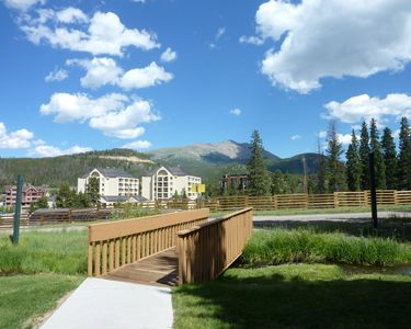 Cedars Townhomes Walkway to Slopes Breckenridge Lodging