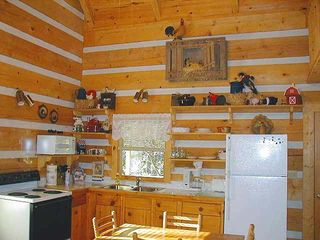 Clayton cabin photo - Fully equipped Kitchen (handcrafted pine cabinets)