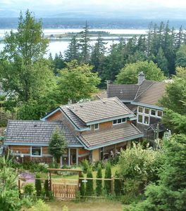 Comox cottage rental - View of 'Mariner's Lookout on Comox Bay' suite and 'The Gallery' suite