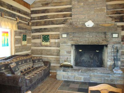 Den and Fireplace