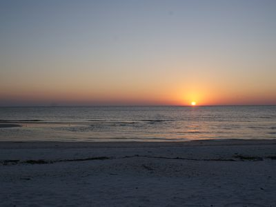 Vacation Homes in Marco Island house rental - Return to the beach at dusk to view the sun 'drop' into the Gulf & see dolphins!