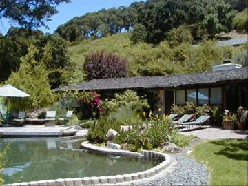 Carmel Valley house rental - Private front yard with unique pool