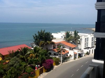 Salinas condo rental - View from La Siesta Balcony On the Malecon or Boardwalk