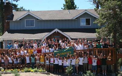 High School Running Camp on Redwood Deck