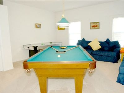 Gameroom - Air-Conditioned with 8ft Slatebed Pool Table and Air-Hockey.
