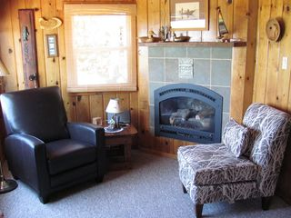 Lake Leelanau cottage photo - Recline, relax and reengergize by a nice evening fire.
