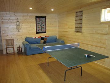 Family room perfect for ping pong tournaments