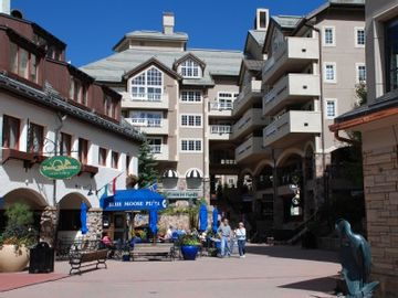 Beaver Creek condo rental - Shops, restaurants, and ice skating rink are literally steps from the condo.
