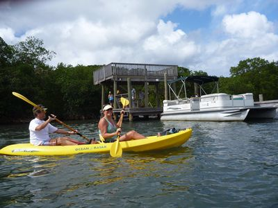 Rent the kayaks for cruising the shoreline or snorkeling.