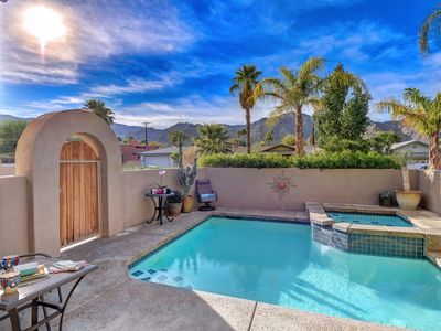Refreshing Saltwater Pool & Spa with the Santa Rosa Mountains