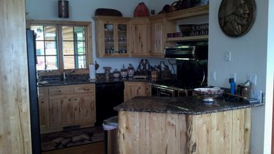 Bigfork house rental - Main house kitchen.