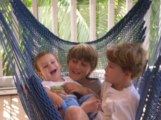 Islamorada house photo - Family fun times in the hammock