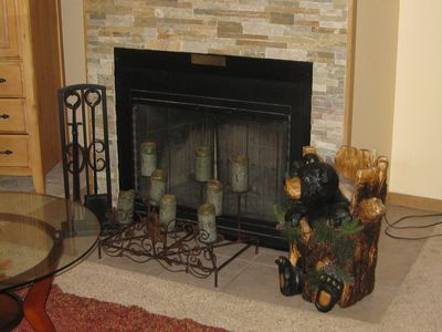 Cozy wood-burning fireplace for those cool nights.  Firewood provided!