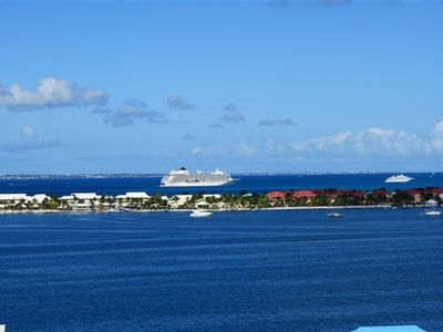 Pointe Pirouette condo rental - View from bedroom balcony-Anguilla on the horizon