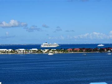 View from bedroom balcony-Anguilla on the horizon