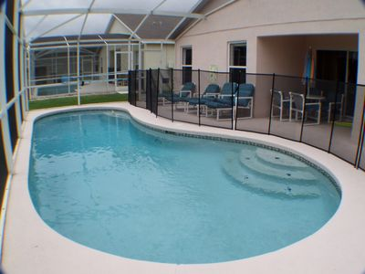 Clear Creek villa rental - Screened pool and patio