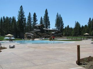 Sunriver house photo - Outdoor pool and water slide at SHARC