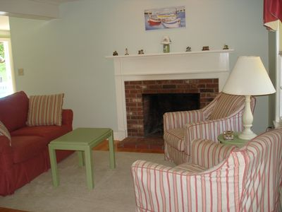 Rye house rental - Cozy up by the fireplace with a relaxing beverage