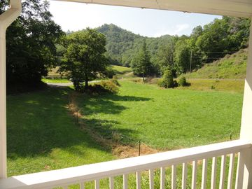Almond farmhouse rental - View from porch of Granna's Farm House