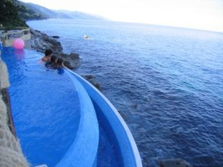 Puerto Vallarta villa photo - Lower Infinity Pool with Mountain View