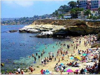 La Jolla house photo - The Cove--great for snorkeling and long swims out around the bouy.