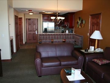 Family Room with Queen Sleeper Sofa at Park City, UT Condo at Canyons Ski Resort