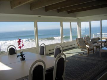 Pleasure Point townhome rental - True ocean view from inside the home.