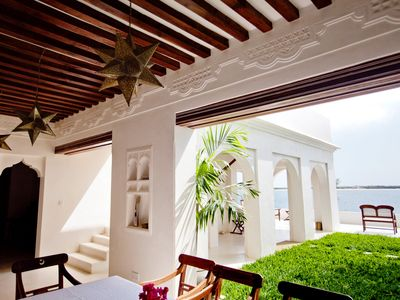 Forodhani House, View from dining terrace, Lamu