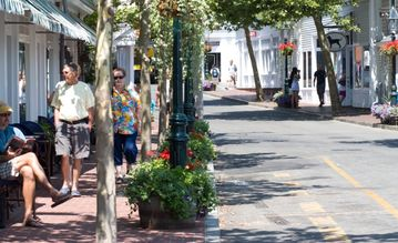 Bike or drive to downtown Edgartown (check out Murdick's Fudge & numerous shops)