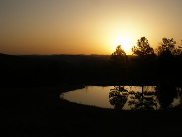 Fayetteville house rental - The sunrise as seen from the back deck!