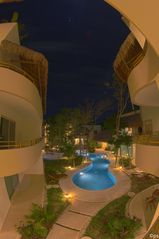 Tulum apartment photo - Common Pool area at night