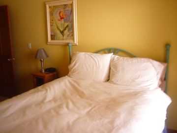 Lower condo ~ view of another bedroom with warm down comforters