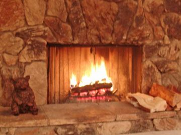 Fireplace, gas logs