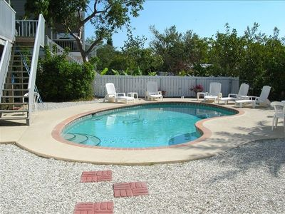Large gunite pool in private setting